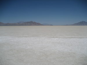 Not surprisingly, the food served on the Bonneville Salt Flats has way too much pepper in it. (via Wikimedia Commons)