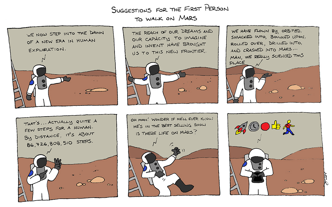 First words from Mars